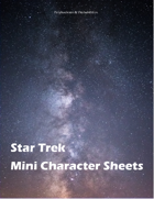 Star Trek Adventures Mini Character Sheets