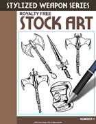 Stylized Weapons Stock Art #1