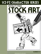 Sci-Fi Character Stock Art #31