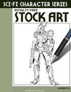 Sci-Fi Character Stock Art #32