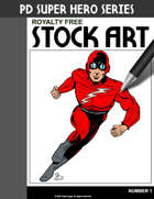 Public Domain Super Hero Stock Art #1