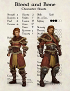 Blood and Bone - Character Sheets
