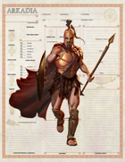 Arkadia Character Sheets - Greek Character Sheets for 5e