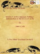 World Of Jorth Campaign Setting: Introduction to the Elves of Jorth
