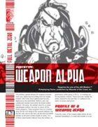 Prototype: Weapon Alpha (D20 Modern)