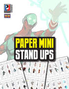 Paper Mini Stand Ups (Super-Powered by M&M)