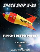 Space Patrol Retro Rocket 1/64th scale