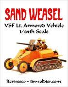 Sand Weasel VSF Lt. Armored Half Track 1/64th
