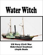 USS Water Witch Civil War Gunboat 1/64th scale
