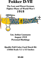 Fokker D-VII Ltn. Arthur Laumann Aug. 1918