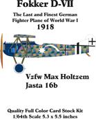 Fokker D-VII set 2 Vzfw Max Holtzem