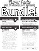 Flavor Packs (for Ironsworn System) [BUNDLE]
