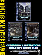 Cyberpunk Art - Mega City Series (01-03) [BUNDLE]