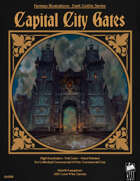 Dark Gothic Art - Capital City Gates