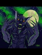 THC Stock Art: Aurora Borealis Werewolf