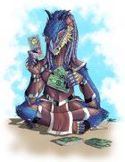 THC Stock Art: Dragonborn Cardcaster (png)