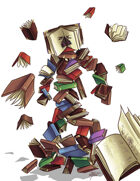 THC Stock Art: Book Golem (.png)