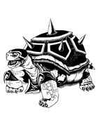THC Stock Art: Battle Tortoise (BW png)