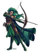 THC Stock Art: Half-Elf Ranger