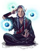 THC Stock Art: Psychic Monk Meditating