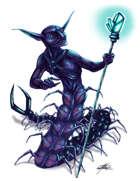 THC Stock Art: Bidiseb - Centipede Humanoid Deep Cave Underground Dweller