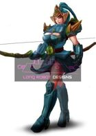 Elegant Chinese Archer  - High Quality RPG Stock Art