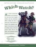 EN5ider #313 - Intriguing Organizations: Which Watch?