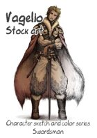Character stock sketch and color series: Swordsman