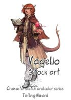 Character stock sketch and color series: Tiefling Wizard