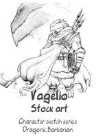 Character stock sketch series: Dragonic Barbarian