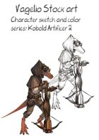 Character stock sketch and color series: Kobold Artificer 2