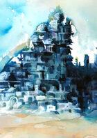 Vagelio Kaliva - Stock Watercolour Illustration - City of Domes
