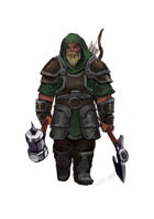 Stock character digital sketch: Dwarf fighter