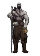 Stock character digital sketch: Goliath warrior