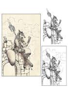Character stock sketch series: Foxfolk Dame