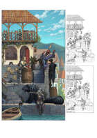 Character stock sketch and color series: At the docks