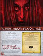 Haematurgy: Blood Magic