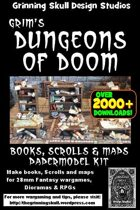 Grim's Dungeons of Doom: 28mm Books, Scrolls & Maps Vol 1