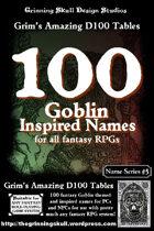 100 Goblin Inspired Names for all fantasy RPGs