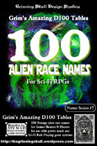 100 Alien Race Names for all Sci-Fi RPGs