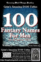 100 Fantasy Names for Men for all fantasy RPGs, Vol 2