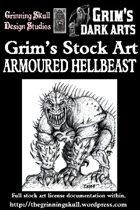 Grim's Stock Art: Armoured Hellbeast