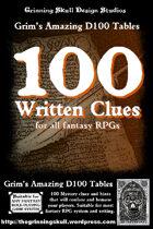 100 Written Clues for all fantasy RPGs