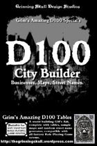 Grim's D100 Special's: D100 City Builder for all fantasy RPGs