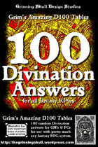 100 Divination Answers for all fantasy RPGs