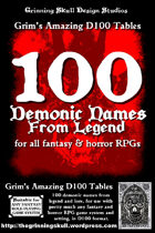 100 Demonic Names from legend for all fantasy & horror RPGs