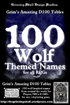 100 Wolf Themed Names for all fantasy RPGs