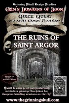 Quick Quests Miniature Gaming Floorplans: The Ruins of saint Argor Poster Map