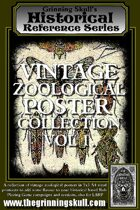 Grinning Skull's Historical Reference Series: Vintage Zoological Poster Collection Vol 1.