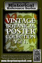 Grinning Skull's Historical Reference Series: Vintage Botanical Poster Collection Vol 1.